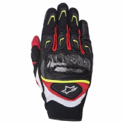Alpinestars SMX-2 Air Carbon Gloves Black/white/fluo/red
